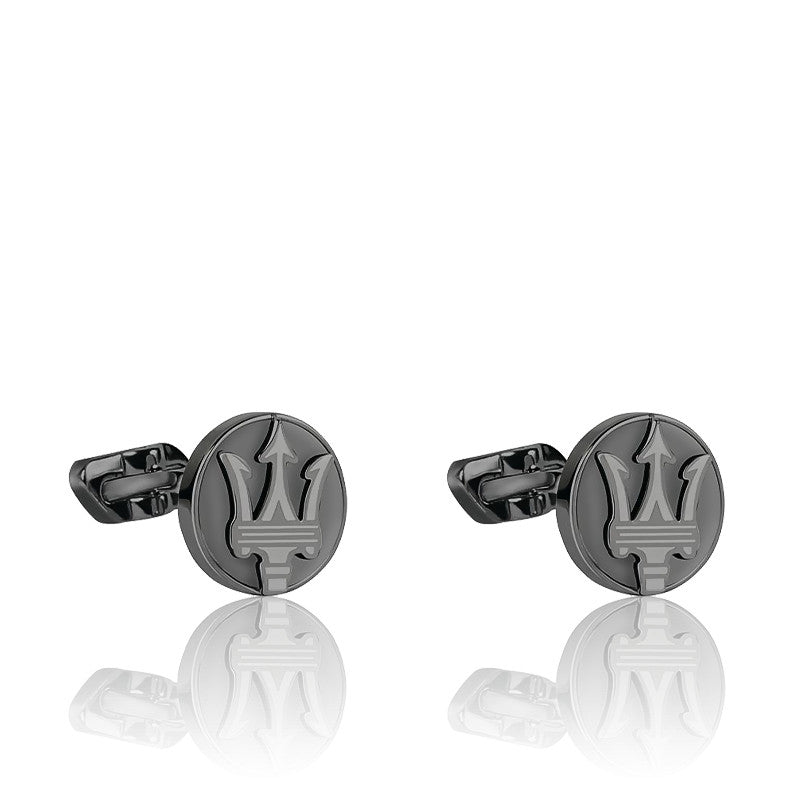 Maserati Stainless Steel Rounded Twin Cuff Links JM418ANK10