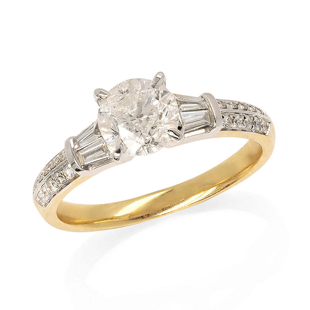 18ct Yellow Gold 1.4ct Brilliant Cut Diamond Engagement Ring