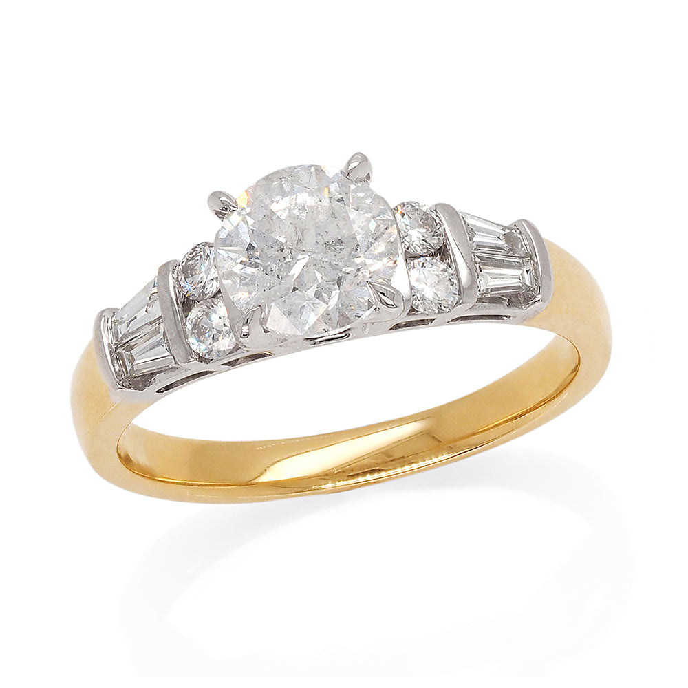 18ct Yellow Gold 1.16ct Brilliant Cut Diamond Engagement Rin