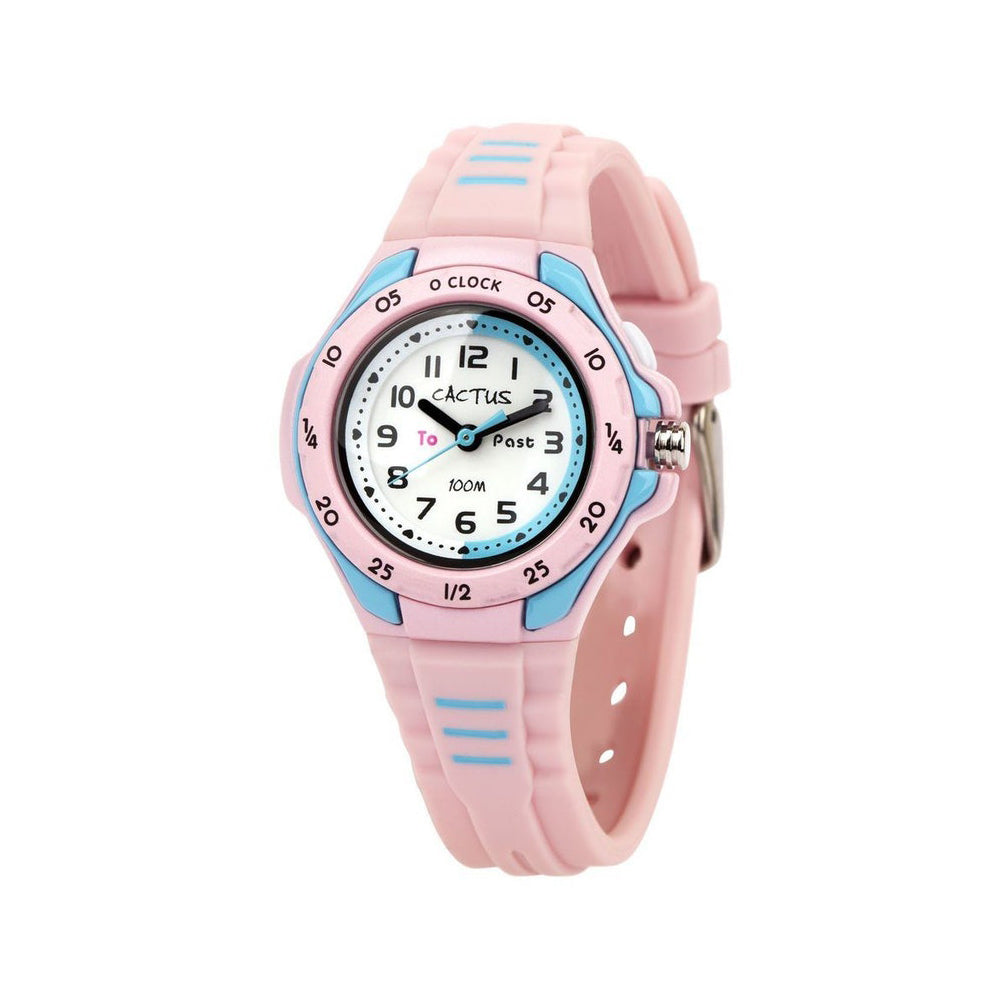 Cactus 'Mentor' Baby Pink Time Teacher Watch CAC-116-M05