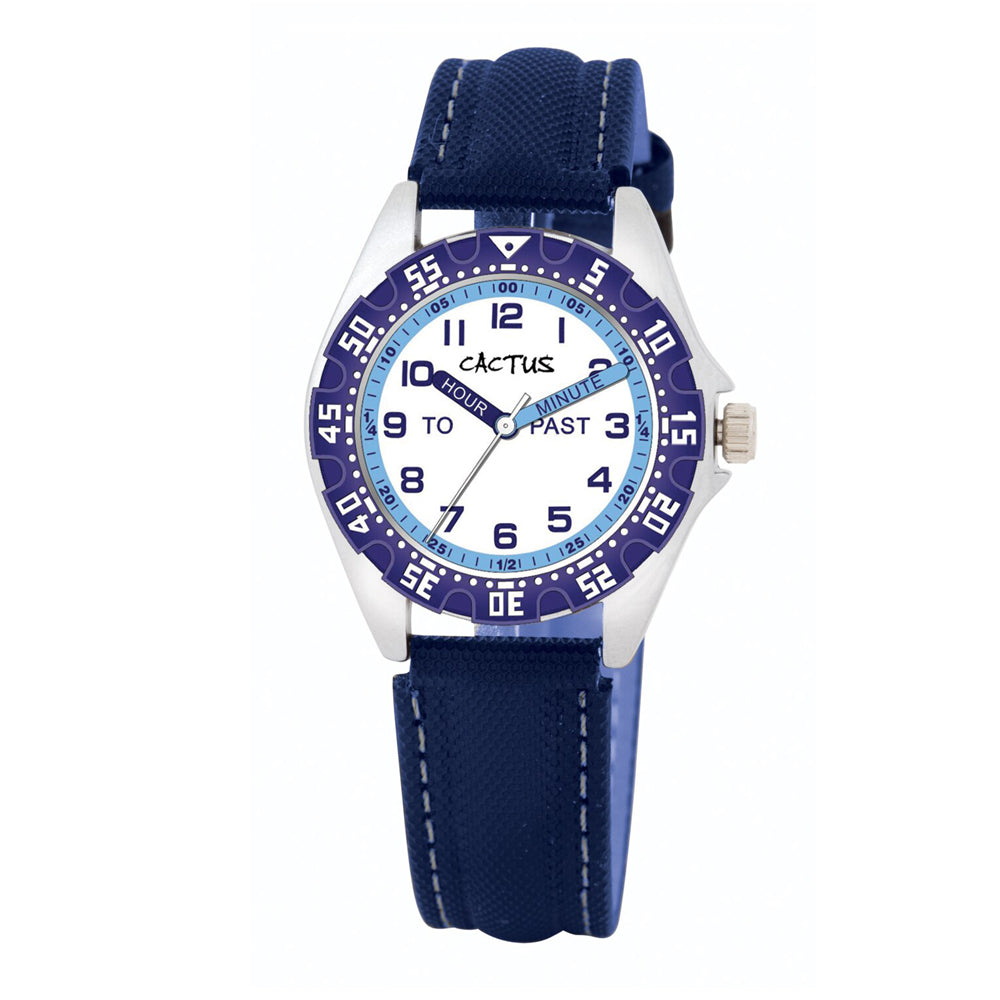 Cactus Navy Blue Time Teacher Watch CAC-121-M03