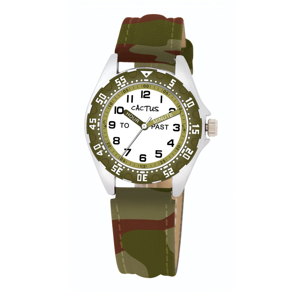 Cactus Kids Time Teacher Camouflage Watch CAC-121-M12