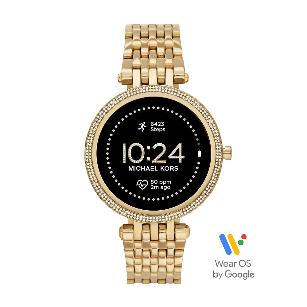 Michael Kors 'Darci' Gen 5E Gold Tone Crystal Set Smartwatch