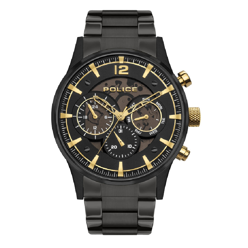 Police Driver Black and Gold Chronograph Watch PEWJK2002802