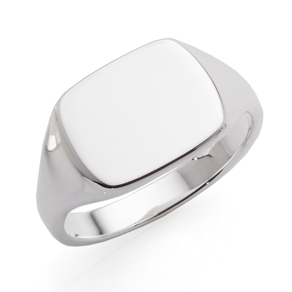 Sterling Silver Plain Rectangle Signet Ring