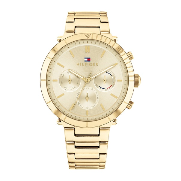 Tommy Hilfiger 'Emery' Gold Tone Chronograph Watch 1782350