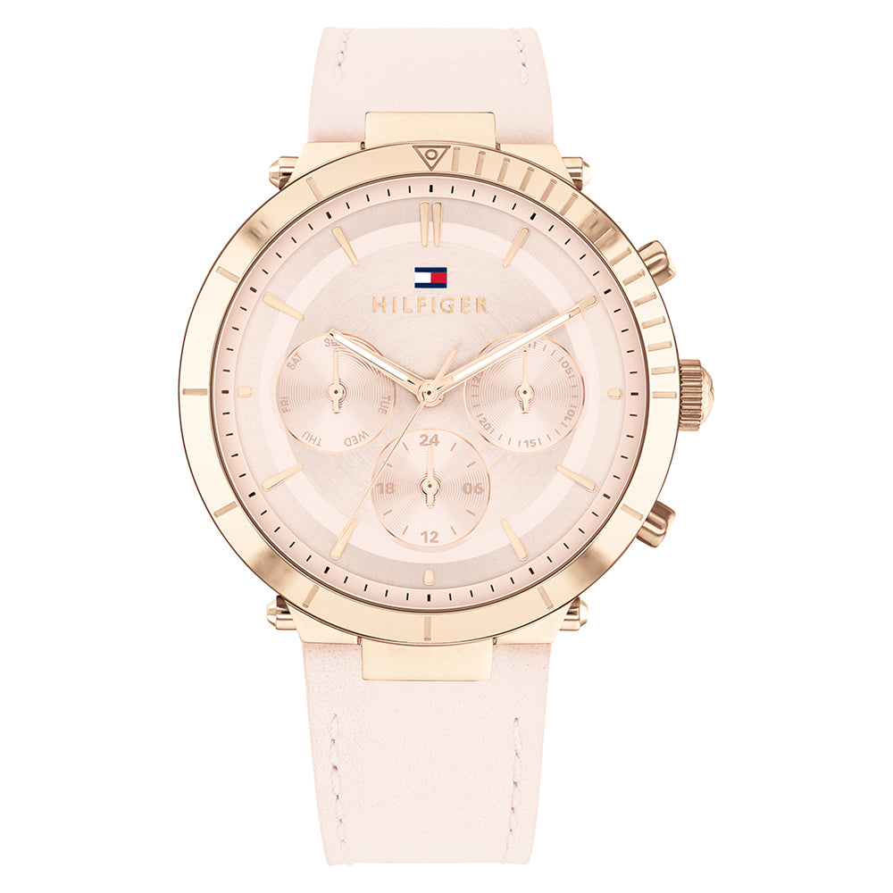 Tommy Hilfiger 'Emery' Chronograph Rose & Pink Leather Watch