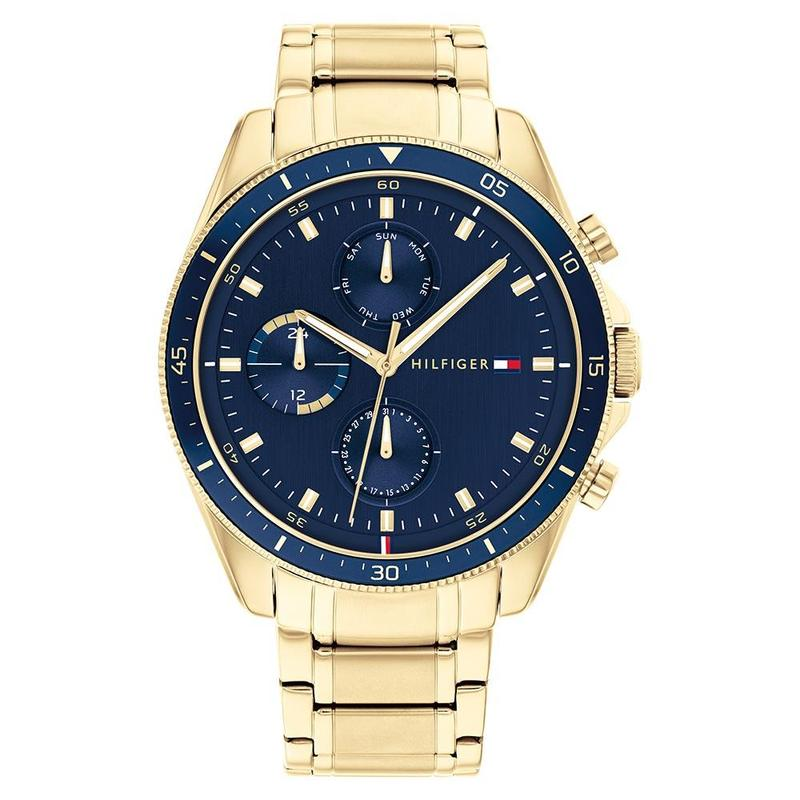 Tommy Hilfiger 'Parker' Gold Tone Multi-Function Watch 17918
