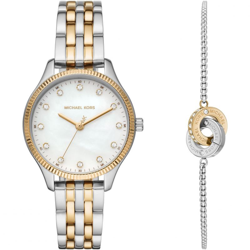 Michael Kors 'Lexington' 2-Tone Watch & Bracelet Set MK1026