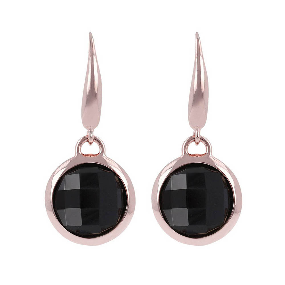 Bronzallure 'Incanto' Round Onyx Drop Hook Earrings WSBZ0030