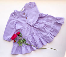 Load image into Gallery viewer, Lavender Frilly Dress