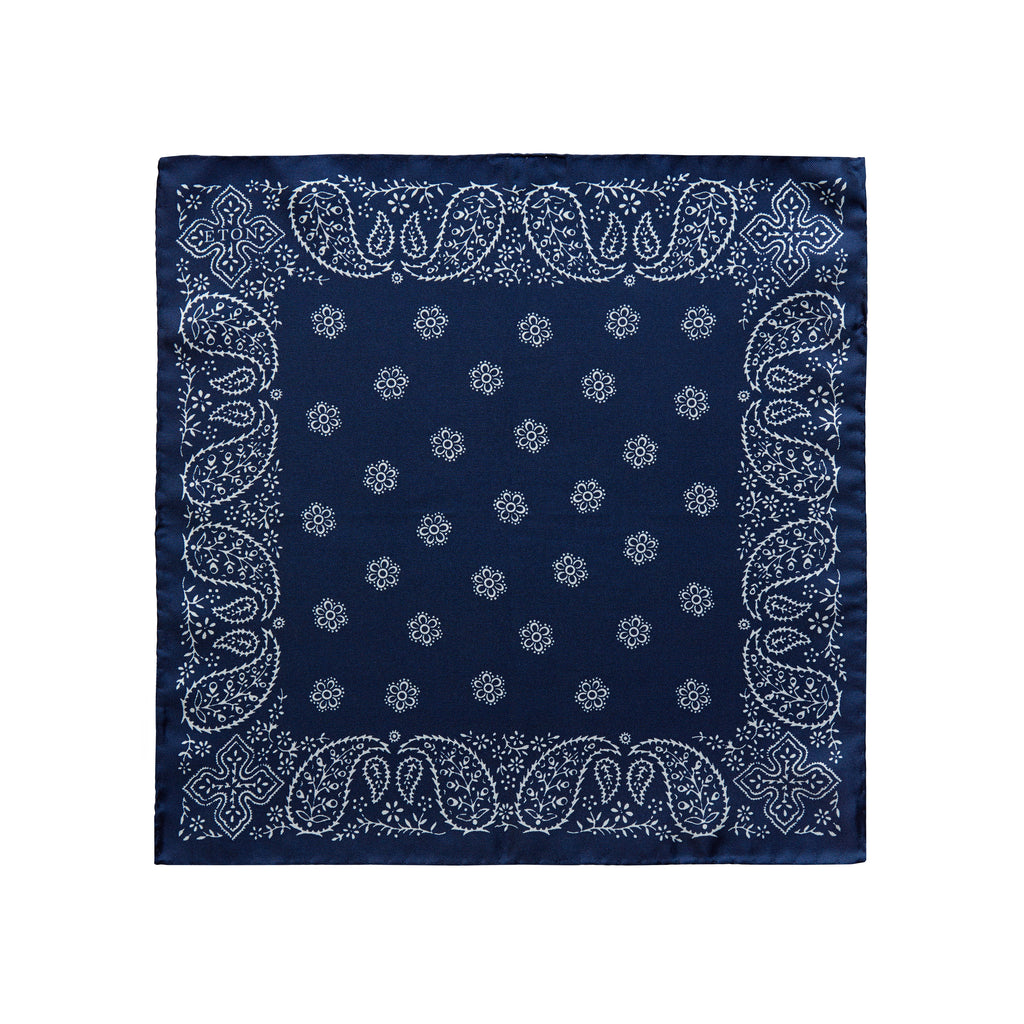 Eton Floral & Leaf Pocket Square