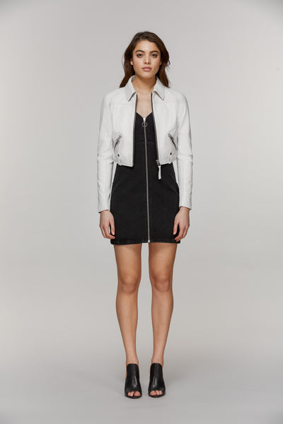 Mackage Bessie Cropped Leather Jacket