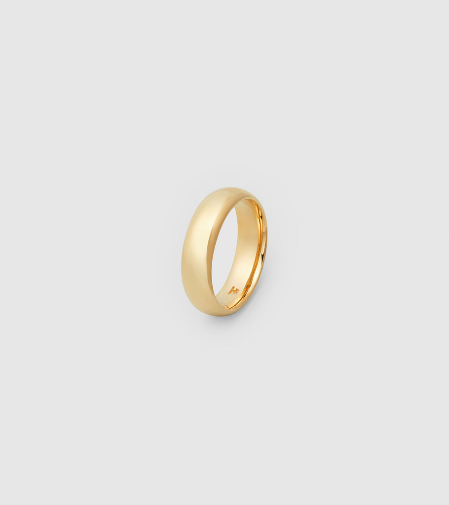 Classic Band Gold Large Polished