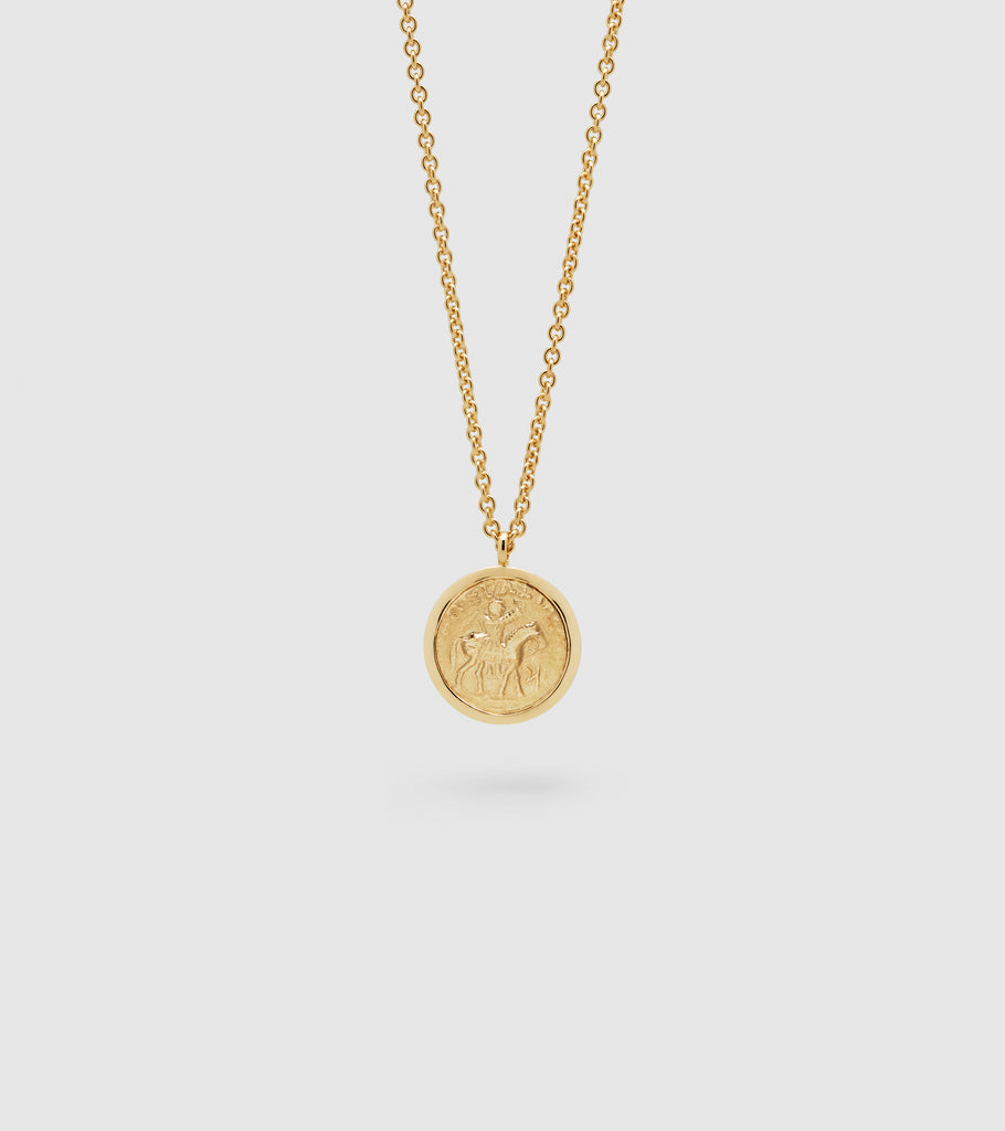 Coin pendant gold tom wood coin pendant gold mozeypictures Images
