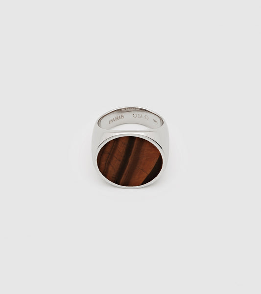 Flush Tiger Eye Circle