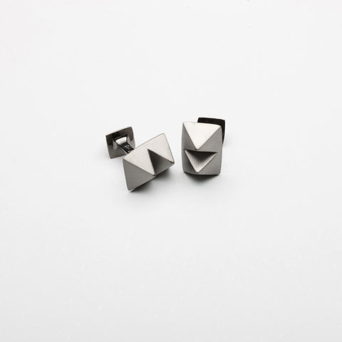 Double Stud Cufflinks Black