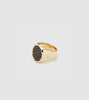 Pinkie Oval Gold Black Spinel