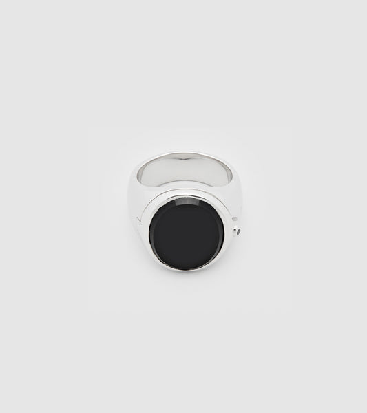 Poison Ring Oval Black Onyx