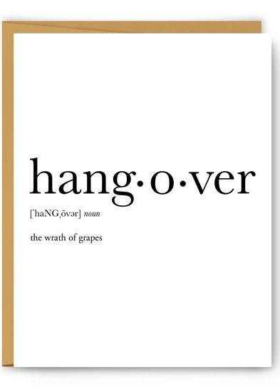 Hangover Definition Greeting Card