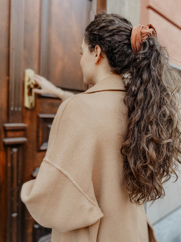 Cinnamon Corduroy Scrunchie-Sultany-For Now