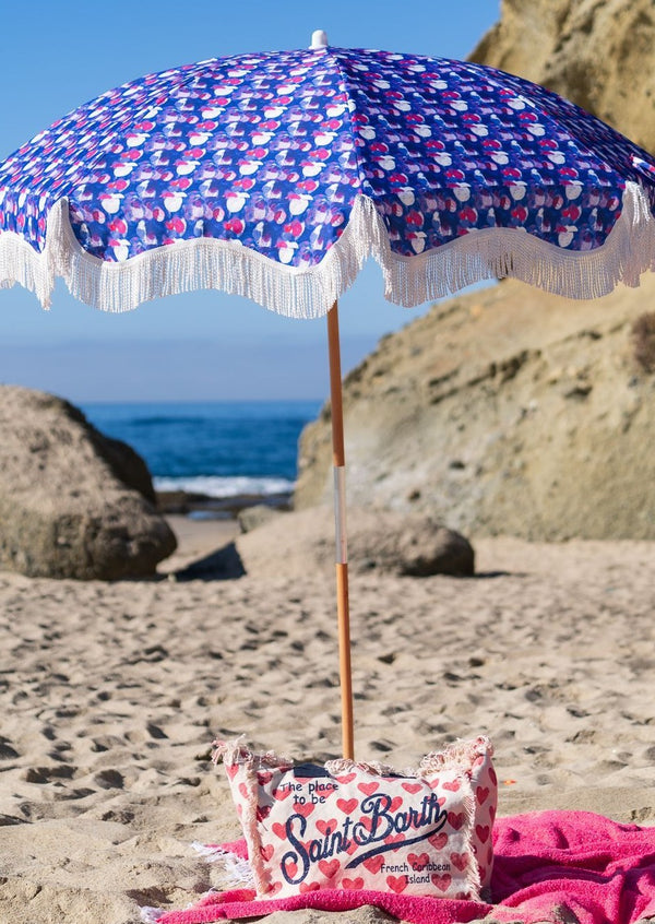 Bubblegum Kisses Beach Umbrella