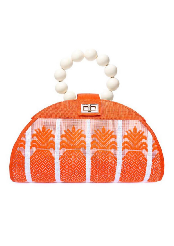The Zoe Orange Woven Purse