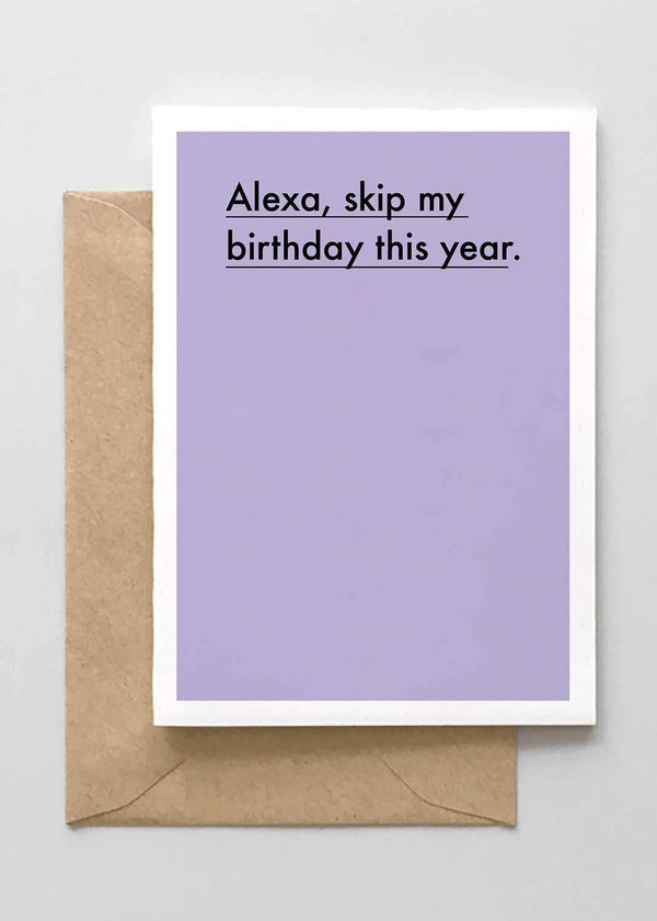 Alexa Skip My Birthday This Year Card-Spaghetti & Meatballs-For Now