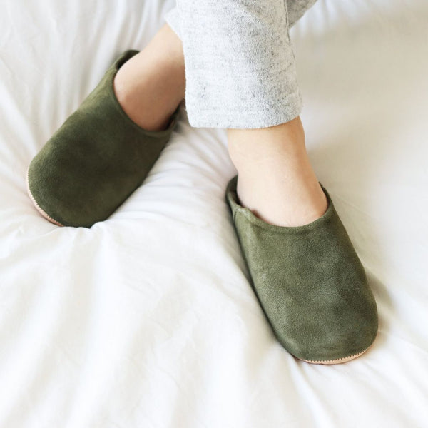 Babouche Suede Slippers-SOCCO-For Now