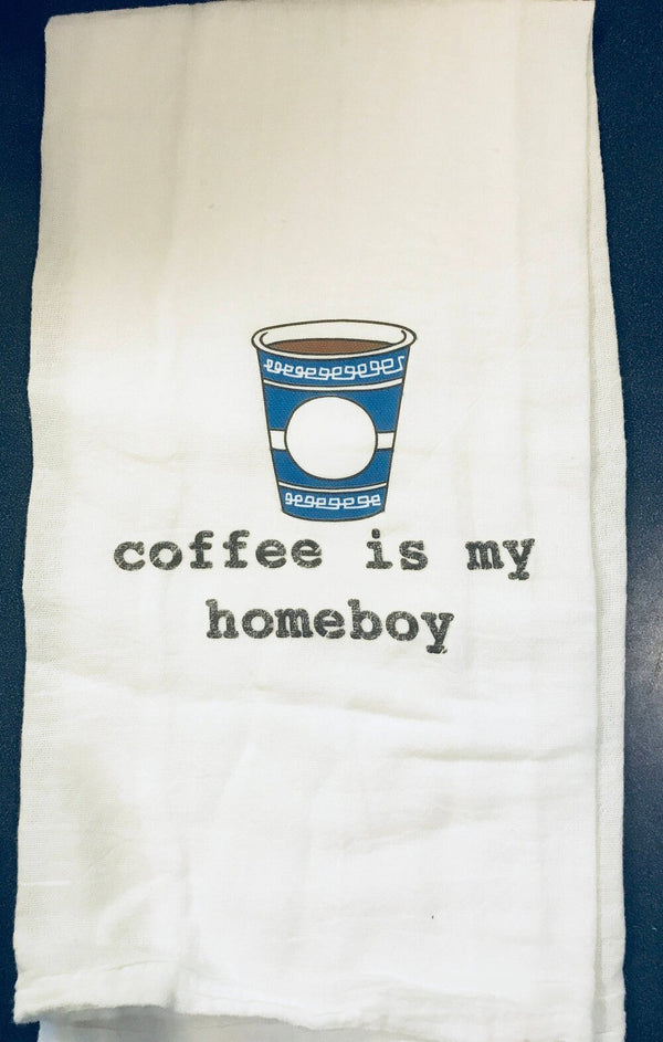 Coffee is my Homeboy Tea Towel-Grape Street-For Now