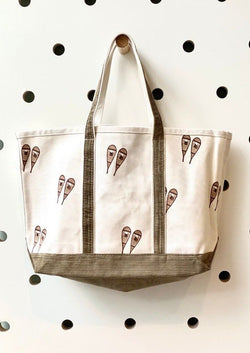 Cord Snow Shoe Tote-Crab & Cleek-For Now