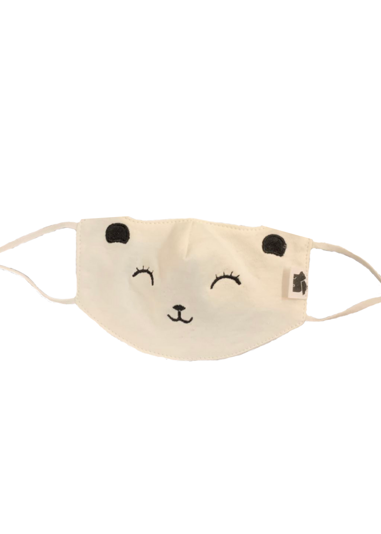Embroidered Bear Child Face Mask-Paper Cape-For Now