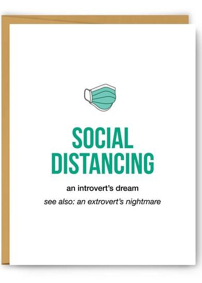 Social Distancing Definition Illustration Greeting Card