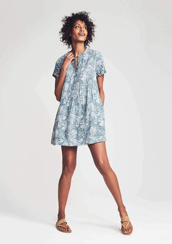 Gemina Sunwashed Linen Blend Dress-Faherty-For Now