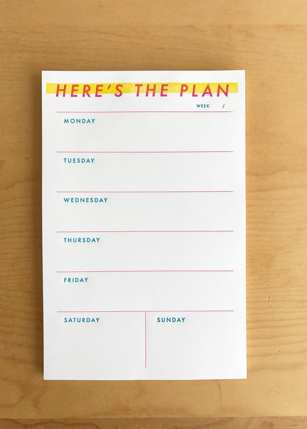 Here's the Plan Notepad-M.C. Pressure-For Now