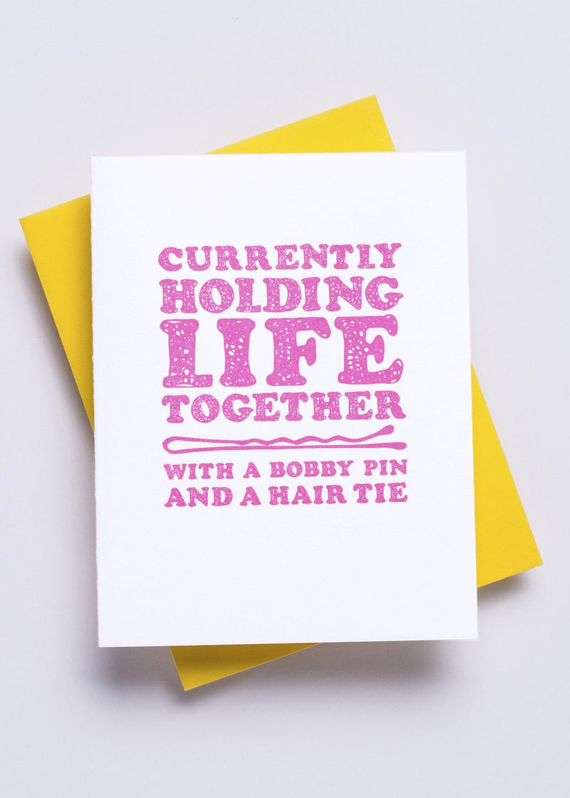 Holding Life Together Card-Richie Designs-For Now