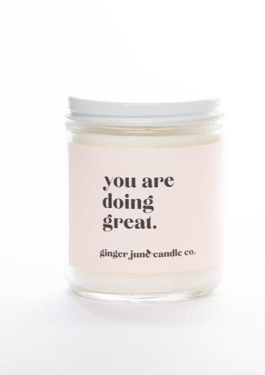 Phrase Candle-Ginger June-For Now