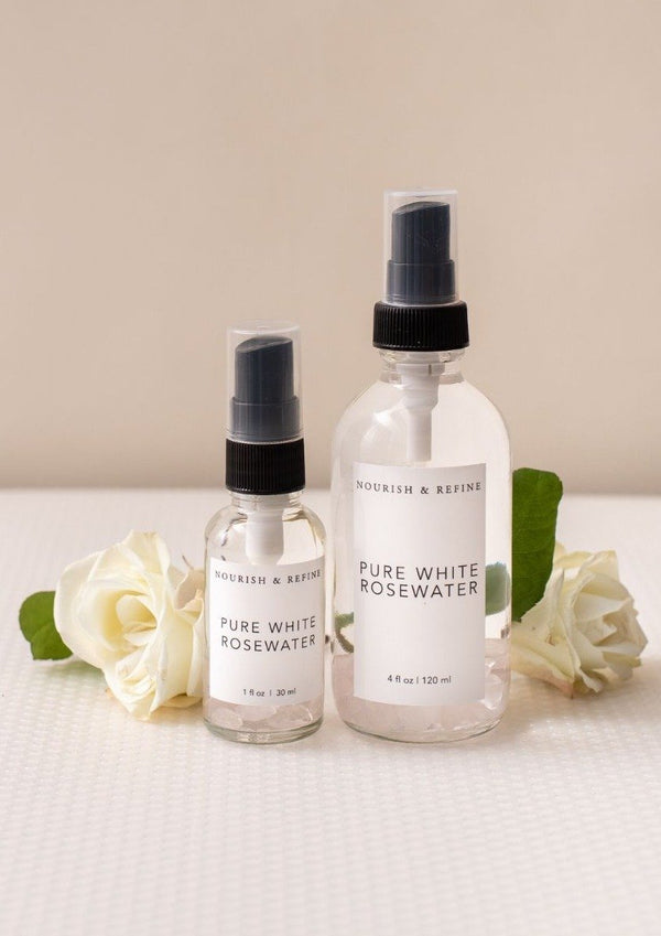 Pure White Rosewater-Nourish & Refine-For Now