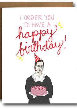 Ruth Bader Ginsburg Birthday Card-The Card Bureau-For Now