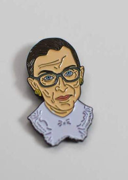 Ruth Bader Ginsburg Enamel Pin-The Card Bureau-For Now