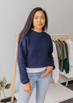 Rye SeaThread™ Sweater-Long Wharf Supply Co-For Now