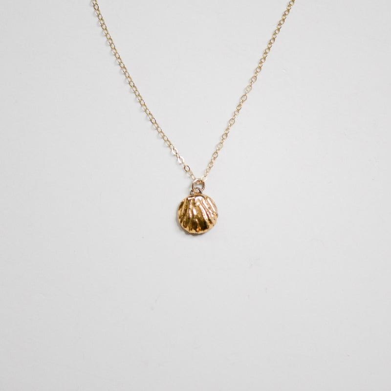 Small Seashell Necklace-Porcelain + Stone-For Now