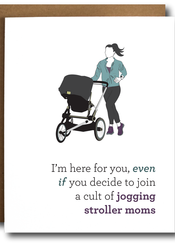 Stroller Runner Mom Card-The Card Bureau-For Now