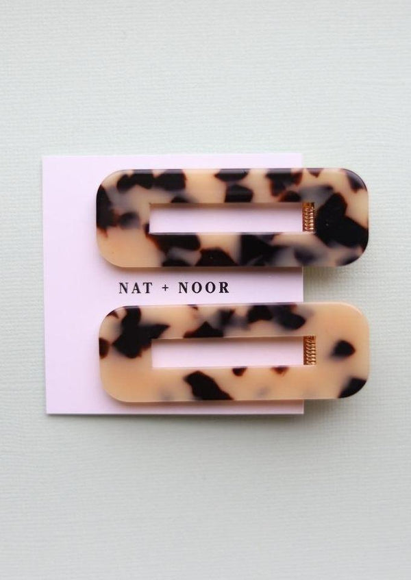 Tortoise Duo Hair Clips-NAT + NOOR-For Now