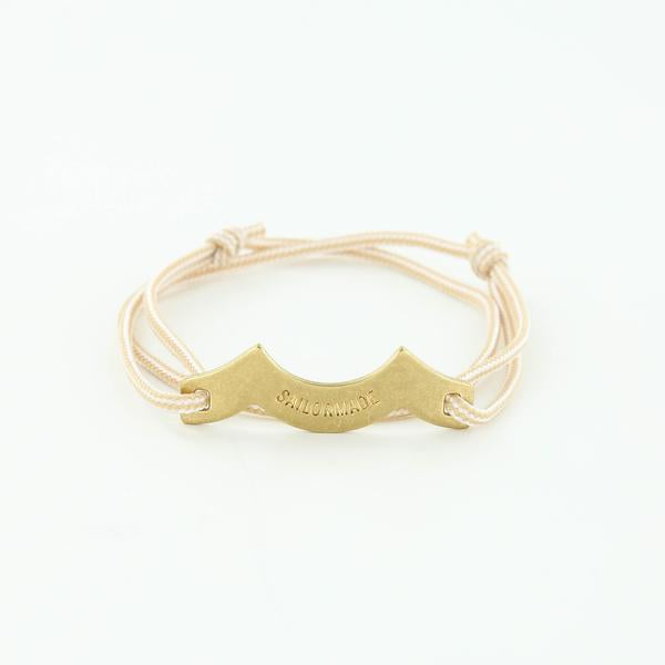 Wave Chaser Rope Bracelet in Brass