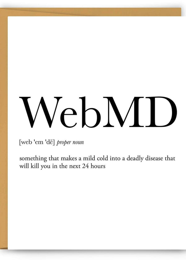 WebMD Definition Greeting Card-Footnotes-For Now