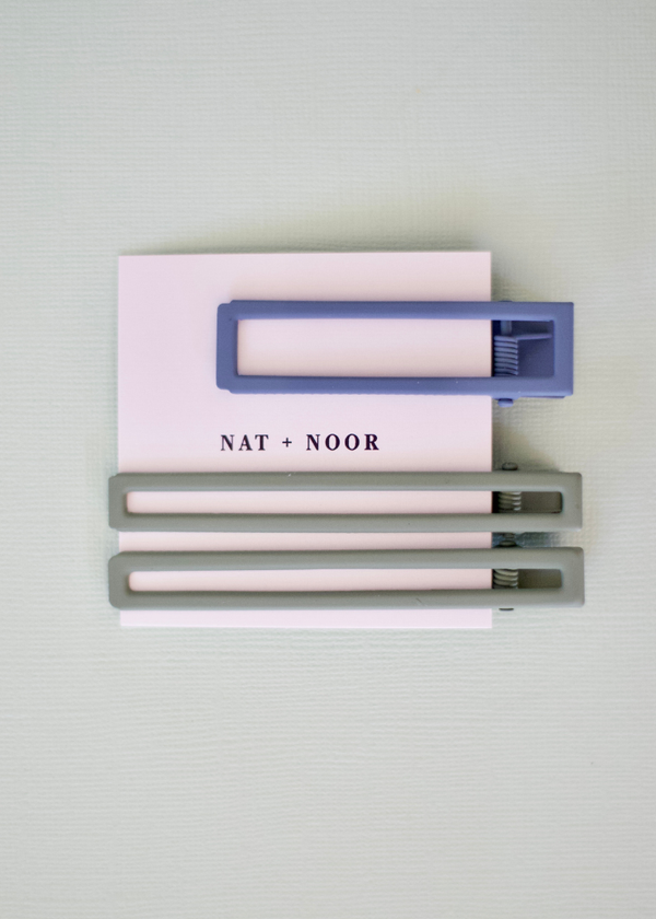 Yarrow Hair Clips in Sage and Sky-NAT + NOOR-For Now