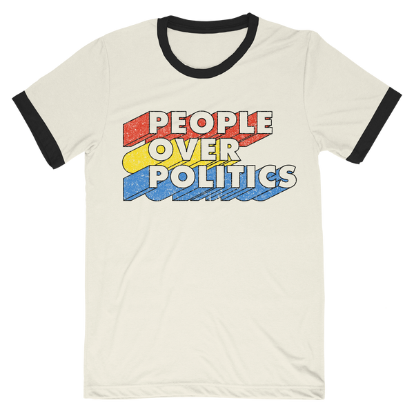 People Over Politics Retro T-Shirt