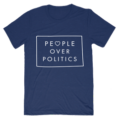 People over Politics Heart Triblend T-Shirt