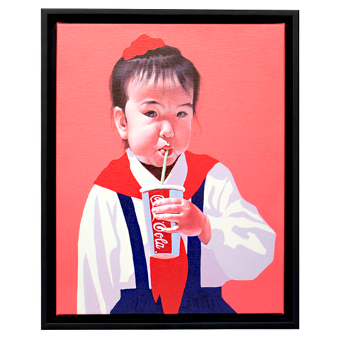 "Sun Mu: ""Cola-drinking Child"" Canvas Print"